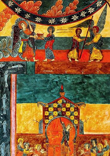 Св. Иоанн получает книгу из рук ангела. 975 год