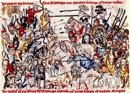 Столкновение монголов с рыцарями