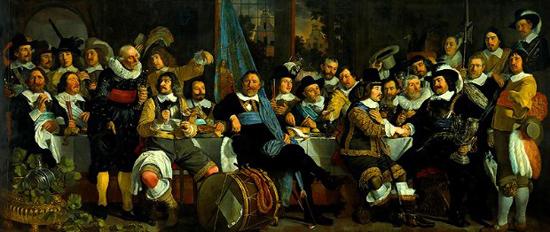 Жители Амстердама празднуют Вестфальский мир, которым завершилась восьмидесятилетняя война